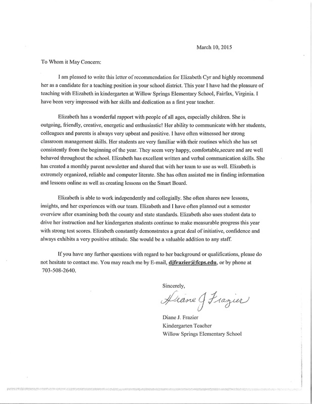 letter of recommendation for a teacher letters of recommendation teach 43340